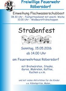 Plakat Straßenfest 2016