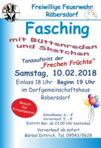 Plakat Fasching-2018
